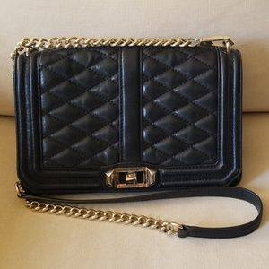 Rebecca Minkoff Black Quilted Leather Crossbody